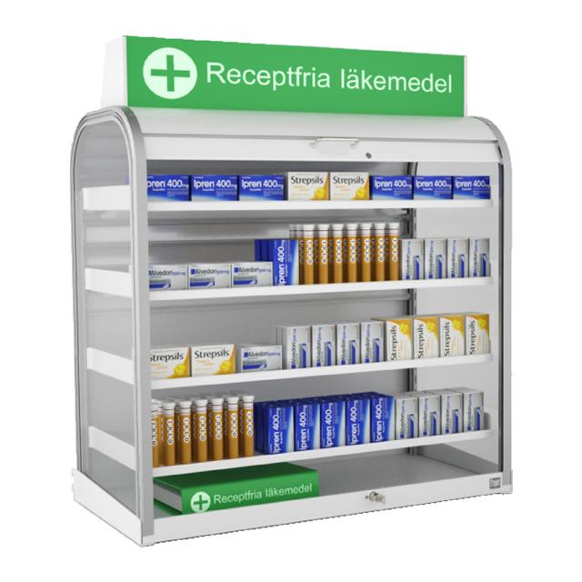 Läkemedelsställ för receptfria läkemedel
