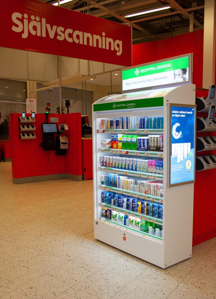 Dispenser for OTC, self scanner zonew